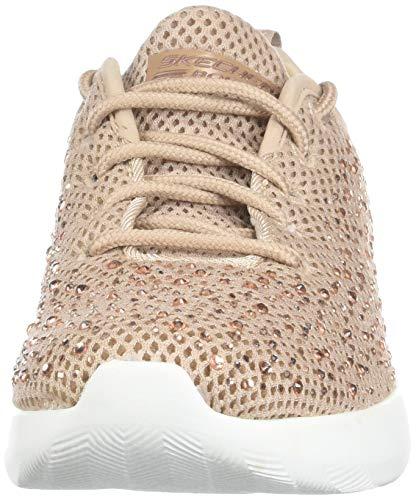 Skechers Bobs Squad 2-Bow Beauty - Zapatillas deportivas para mujer con diseño de estrases Zapatillas con cordones y empeine en punto con estrases., Rosa (Rose gold), 38 EU