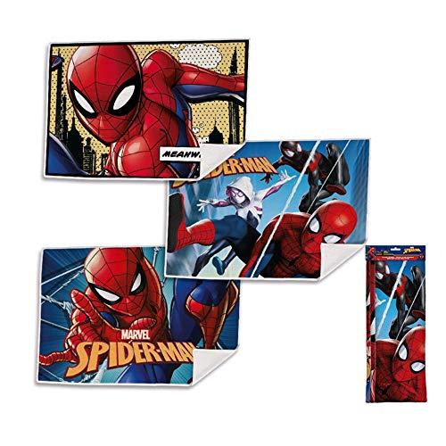 Marvel Set Asciugamani Bagno 3 Pezzi Spiderman in Spugna per Viso 2054 Multicolore 40x30 cm