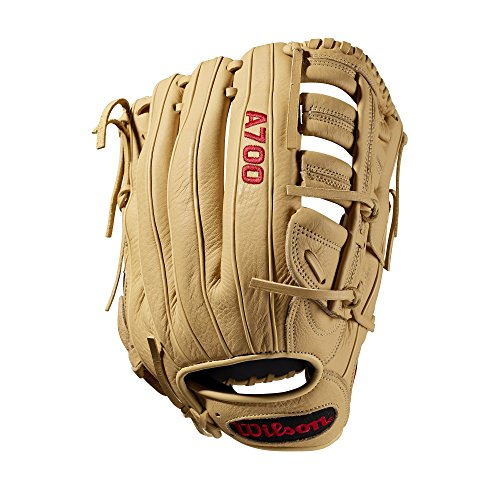 Wilson A700 Baseball Glove Series, Blonde, 12.5 Inch, Left (Right Hand Throw)