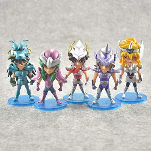 GSDGSD 5 Piezas 10 cm Saint Seiya Figuras de acción Caballeros del Zodiaco muñeca Janpaness Anime Dibujos Animados Juguetes niños