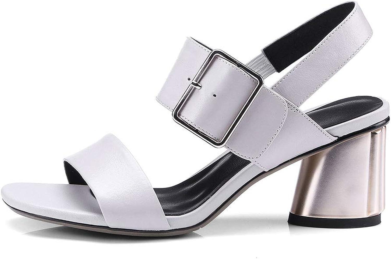 Verocara Women's Mid Chunky Flower Heel Genuine Leather Adjustable Slingback Sandal shoes