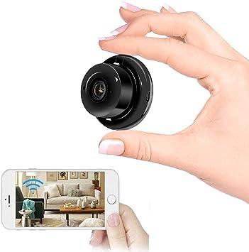 Amazon.com: Cámara espía oculta WiFi mini cámara HD 1080P pequeña cámara  inalámbrica con cámara IP con función de visión nocturna infrarroja,  utilizada para cámara de seguridad en el hogar, monitor de bebé,