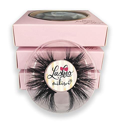 Mikiwi 3 Pairs Mink lashes, Real Mink Eyelashes, Fluffy Mink Lashes, Thick HandMade Full Strip Lashes, Cruelty Free, Luxury Makeup, Dramatic Lashes, 3D Mink Lashes(D384-3)
