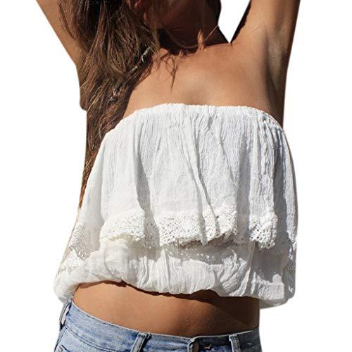 Ärmelloses kurzes Westenoberteil, Art- und Weisefrauen-Sommer-Weste-Sleeveless Normallack-beiläufige Trägershirts T-Shirt Weiß S