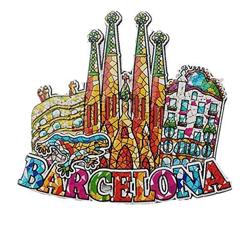 Mosaico stile Barcellona Spagna 3D frigorifero magnete souvenir regalo, casa e cucina decorazione magnetica Sticker Barcelona Spagna frigorifero magnete collezione