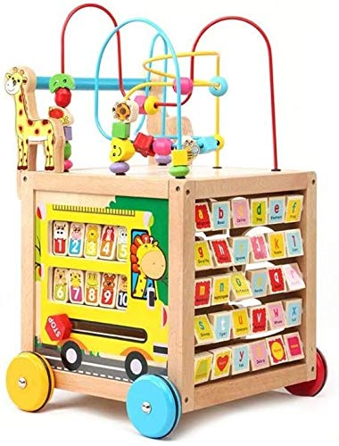 Check Out This Mopoq Wooden Children's Walker Baby Baby Walker Multi-Function Speed Wooden Puzzle Pr...