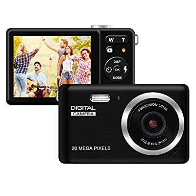 """Compact Digital Camera, Rechargeable 20MP Kids Camera with 2.8"""" LCD 8X Digital Zoom for Adult Seniors Elders from KIDSCAM"""