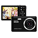 HD Digital Camera, Rechargeable Mini Digital Camera Camera with 2.8' LCD/20MP/8X Digital Zoom Video Camera Kids Students Cameras,Indoor Outdoor for Adult Seniors Kids(Black)
