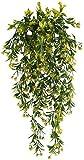 NAHUAA 2pcs Pflanze Balkon Künstlich Efeu Kunstpflanze Hängend Dekopflanze Hängend Hängepflanze für Innen Außen Balkon Garten Hochzeit Zuhause Dekoration