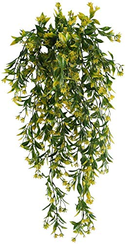 NAHUAA 2pcs Künstliche Hängepflanze Efeu Künstliche Pflanze Hängend Kunstpflanzen Unechte Plastik Pflanzen Hängend Grünpflanzen für Innen Draußen Topf Balkon Garten Hochzeit Wand Deko