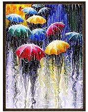 5D DIY Diamond Painting Kit Full Diamond Rainy Umbrella People Painting Cross Stitch Diamond Wall Stickers Home Decoration 30x40cm