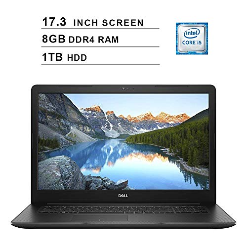 Dell Inspiron 17 3780 17.3 Inch FHD Laptop (Intel Core i5-8265U up to 3.9 GHz, 8GB RAM, 1TB HDD, Intel UHD Graphics 620, DVD, Bluetooth, WiFi, HDMI, Windows 10) (Renewed)
