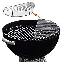 GFTIME 8836 57 cm Griglia di cottura in acciaio inossidabile Scaldapiatti Protezione riscaldamento Parti di ricambio per Weber 8836,Accessori per barbecue Barbecue per griglia a carbone da 57 cm