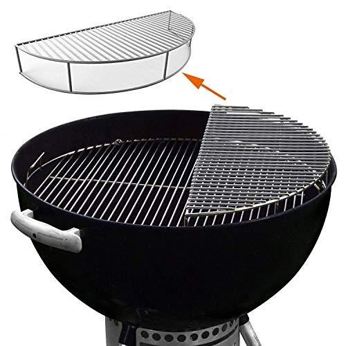 GFTIME Edelstahl Warmhalterost rund 52.3cm für Weber 57cm Holzkohlegrills, den Einsatz Wasserkocher Grill-Kohle Zubehör, Rauchen Kugelgrill, One-Touch, Performer, Grillen Grillrost, Expansion Rack