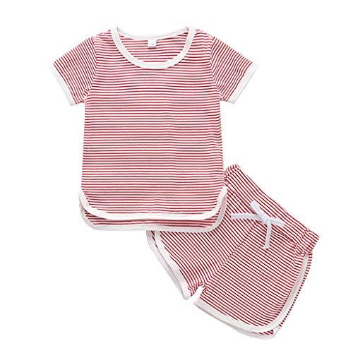 Conjunto de ropa para niñas de 0 a 5 años de edad, conjunto de ropa para bebé, rojo, 3-4 Años