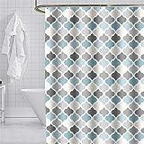 YISHU Top Qualität Duschvorhang Wasserdicht Anti-Schimmel Stoff inkl. 12 Duschvorhangringe für Badezimmer Mint-1 240x200cm