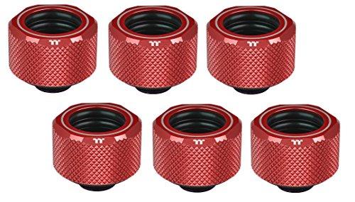 Thermaltake Pacific C-Pro G1/4 PETG - Tubo de 16 mm OD compresión, Color Rojo