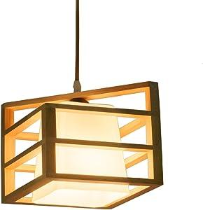 XUANLAN Estilo japonés de Madera Maciza lámpara de Techo araña de Goma lámpara de Techo lámpara de Techo de Madera Sala de Estar Comedor balcón balcón E27