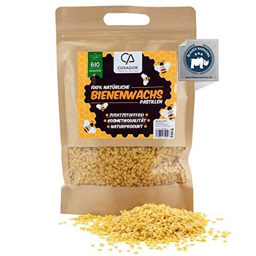 Cosador - Cera de abeja orgánica 500 g - especial cera de abeja natural orgánica - Calidad certificada - Cera de abeja ecológica para cosméticos
