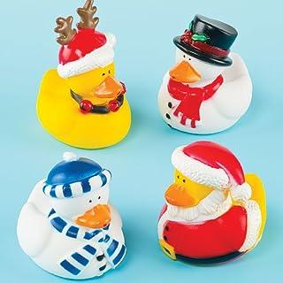 Baker Ross Patitos de Navidad decorativos (Paquete de 4) Regalos para niños