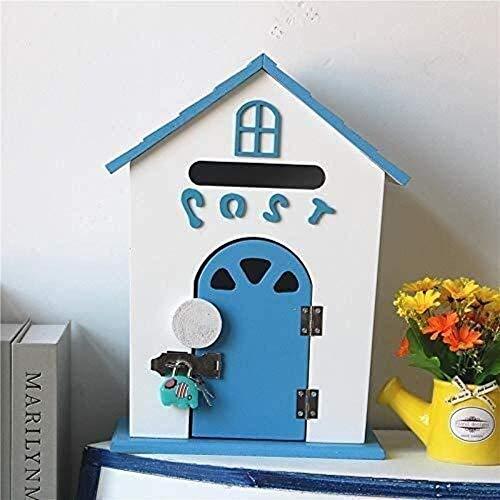 YONGYONGCHONG brievenbus brievenbus van hout, aan de muur bevestigde brievenbus creatieve persoonlijkheid postbox veilig afsluitbaar veiligheidspostvak