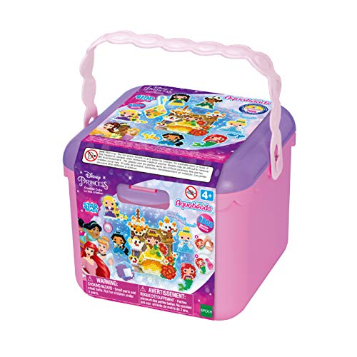 Aquabeads Disney Princess Creation Cube, Complete Arts & Crafts Bead Kit for Children - Over 2,500 Beads & Display Stand The Create Belle, Ariel, Tiana, Rapunzel and More
