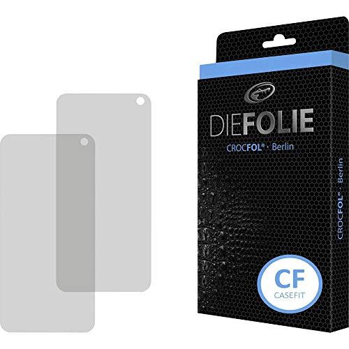 Crocfol Schutzfolie vom Testsieger [2 St.] kompatibel mit Samsung Galaxy S10e - selbstheilende Premium 5D Langzeit-Panzerfolie inkl. Veredelung - für vorne, hüllenfreundlich