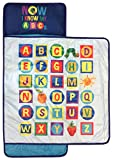 Eric Carle ABC Nap Mat - Built-in Pillow and Blanket - Super Soft Microfiber Kids'/Toddler/Children's Bedding, Ages 3-5 (Official Eric Carle Product)