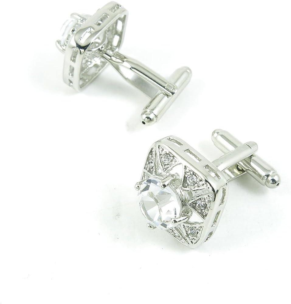 Cufflinks Cuff Links Classic Fashion Jewelry Party Gift Wedding 592212 Zircon White Crystal