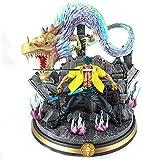 ZAKRLYB Figura de acción de One Piece Anime Santōryū Tornado Roronoa Zoro Muñeca Modelo Cosplay CLORURO DE POLIVINILO Decoración de los juguetes de papel de la estatua 42 cm Decoración de oficina de o