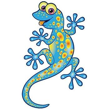 Autoaufkleber Sticker Lizard Eidechse gelb Aufkleber