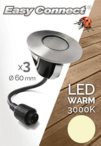 Easy Connect 65426 - 3 Mini-Einbau Spots Warmweiß 9 LED 2 W