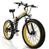 Bicicletas Eléctricas Plegables, 26' Bicicleta Electrica Adulto, Bicis de Montaña Electricas, 1000W Motor+Batería Extraíble de 48 V 15Ah, 4.0' Neumático Gordo, Shimano de 21 Velocidades