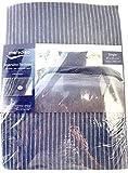 Meradiso Juego de Fundas de edredon y Almohada Reversibles 55% Algodon 45% Lino Color Azul Medidas 140x200cm y 65x65cm