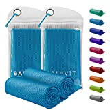 Balhvit 2 Pack Instant Relief Cooling Towel for Neck, Ice Towel, Microfiber Towel, Chilly Headband Bandana Scarf, Cool...