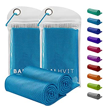 Balhvit 2 Pack Instant Relief Cooling Towel for Neck Ice Towel Microfiber Towel Chilly Headband Bandana Scarf Cool Cold Towels for Men/Women Yoga Sport Running Gym Workout Hiking