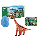 CustheGift Brachiosaurus Dinosaur Toy for Kids Boys and Girls Age 3 and up, 3 in 1 Toddler Toys Set for Kids Boys and Girls