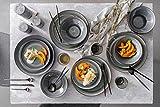 Tafelservice Helsinki 12 teiliges Geschirr-Service für 4 Personen aus Steingut, Speise-, Dessertteller und Schalen, Alltag, besonderes Dinner, Outdoor Teller-Set Vintage-Look von Sänger - 2