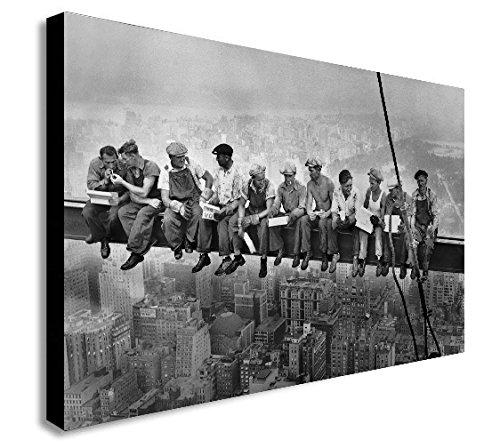 Lunch Atop Skyscraper Kunstdruck auf Leinwand, gerahmt, verschiedene Größen, Holz und Leinwand, A1 32x24 inches