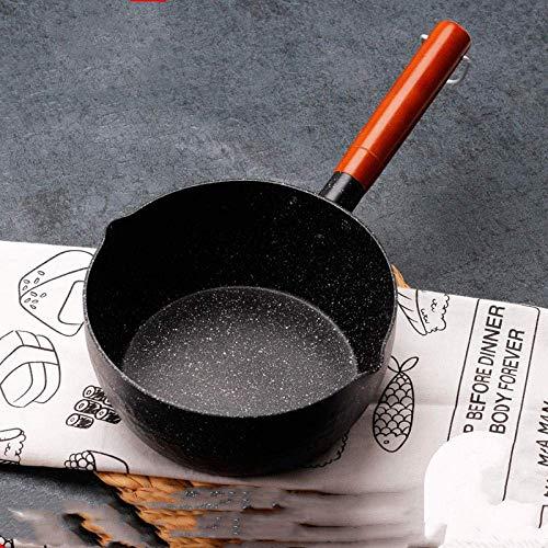 Grote Wok, Pan Set, 22cm sneeuw Pan Maifan Stone Mini Hot Milk Pot Non-Stick Household-22cm_Conventional, inductie kookplaat/Vaatwasser, Wok Cook Book ZHANGKANG