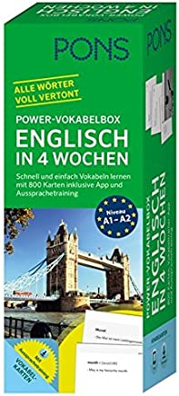 PONS PowerVokabelbox Englisch in 4 Wochen Schnell und einfach Vokabeln lernen it 800 Karten inklusive App und Aussprachetraining by