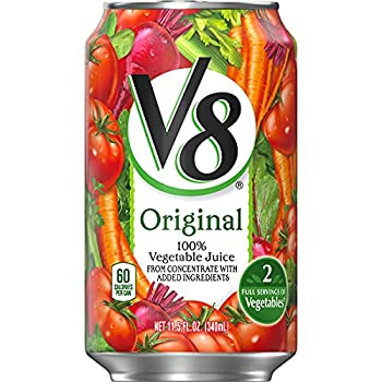 V8 Juice Original 100% Vegetable Juice Plant-Based Drink 11.5 Ounce Can  Pack of 24