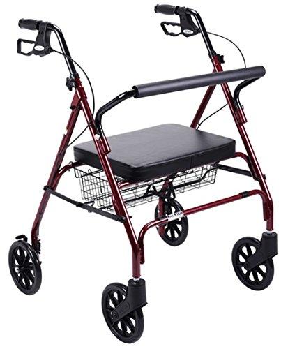 Drive Medical Foldable Bariatric Heavy Duty Rollator Walker