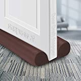 """SHMILY Door Draft Stopper, Weather Stripping Door Seal Strip Household Products Dust-Proof, Winter-Proof, Block Light, Block Noise. Multifunctional, Durable, Adjustable Size from 32"""" to 38"""" (Brown)"""