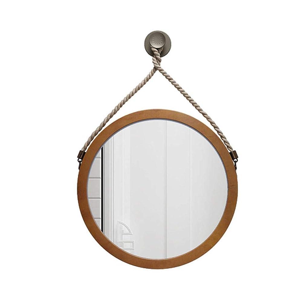 樹皮対称災害JXJJD ヨーロッパの浴室の鏡の壁掛けのバスルームの鏡のバスルームのミラーインの洗面化粧鏡の鏡のラウンドバスルームの鏡 (Size : 80*80CM)