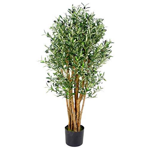 Leaf - Árbol de Olivo Artificial (125 cm), verde oliva LEAF-7384