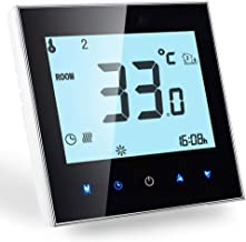 WiFi Smart Thermostat Compatible with Alexa Google Home-Wireless Room Thermostat for Water Heating, LCD Touch Screen programmable Temperature Controller 3A