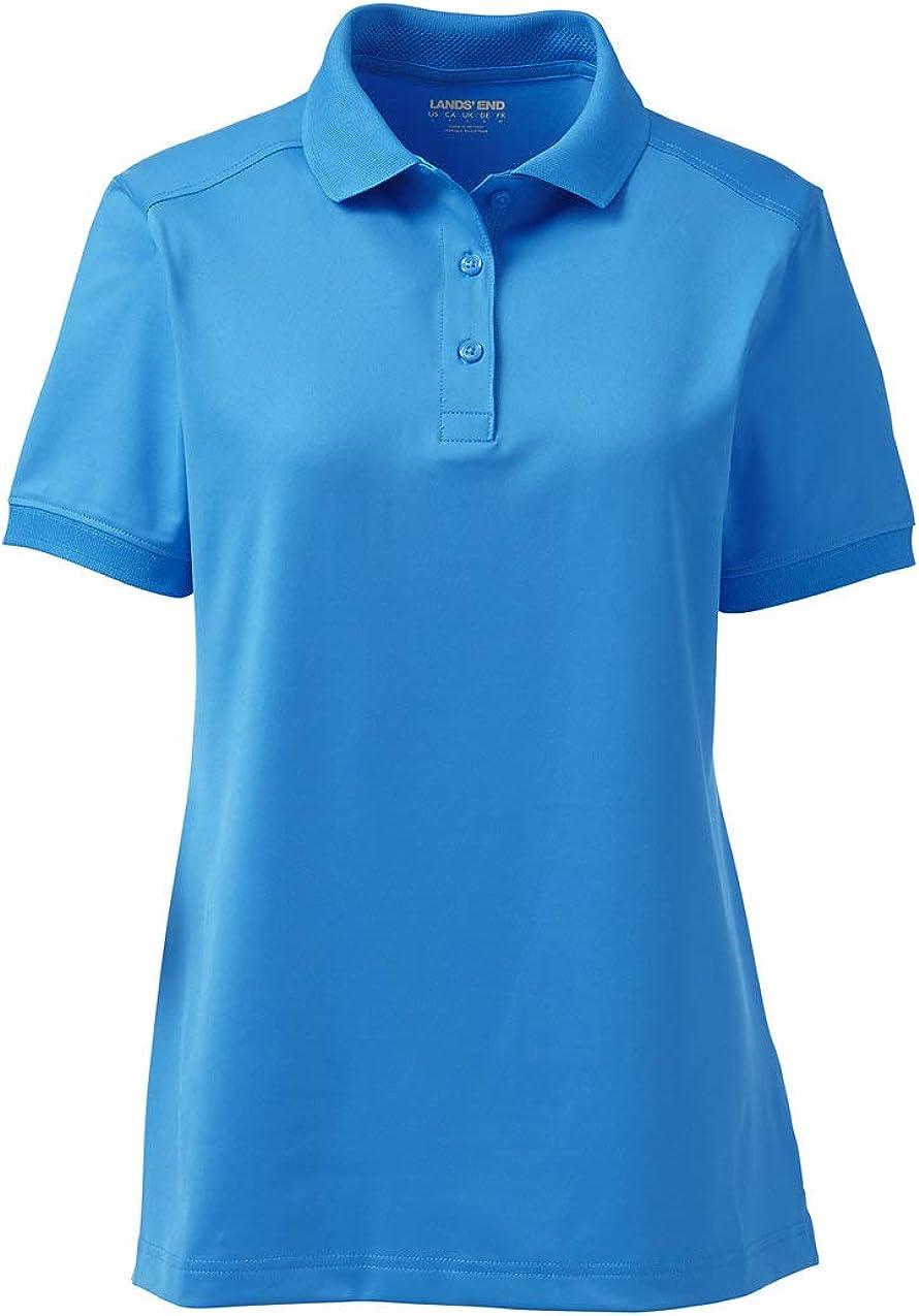 Lands' End School Uniform Women's Short Sleeve Rapid Dry Polo Shirt