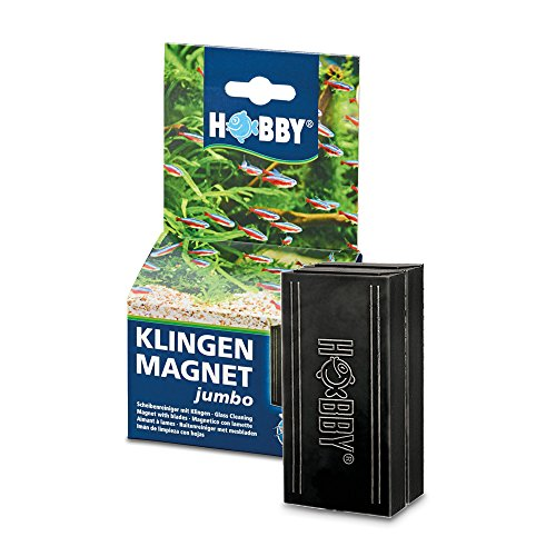 Hobby Klingenmagnet Jumbo Scheibenreiniger für Aquarien bis 12 mm Glasstärke