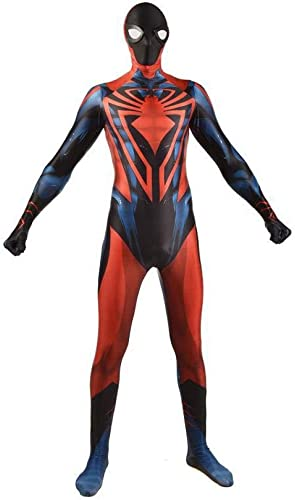 DSFGHE Anime Illimité Spider Man Cosplay Bataille VêteHommests Adulte Collants Siamois HalFaibleeen Costume Perforhommece Ball,noir-M